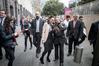Jacinda Ardern's hipster bodyguard Iain (left) broke the internet.