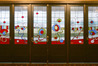 IN STORAGE: The art deco stained glass front doors of the Hawke's Bay Opera House have been removed to keep them safe.