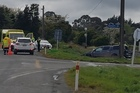 A man has died after his car was hit by a train at Ohau, near Levin.