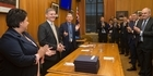 Watch: Bill English welcomed with an ovation