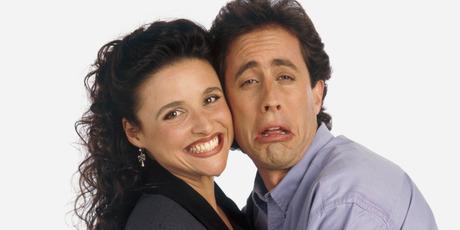 Julia Louis-Dreyfus as Elaine Benes, Jerry Seinfeld as Jerry Seinfeld. Photo / Getty