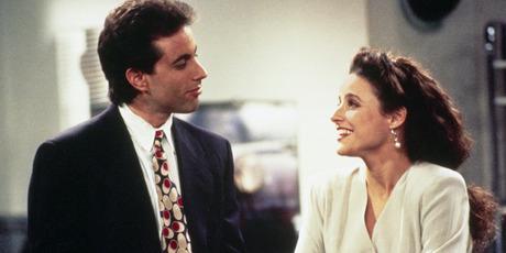 Jerry Seinfeld as Jerry Seinfeld, Julia Louis-Dreyfus as Elaine Benes. Photo / Getty
