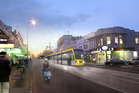 Artist impression of light Rail tram on Dominion Road. Photo / Supplied