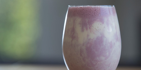 Tamarillo and banana smoothie. Photo / Nick Reed