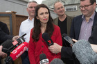 Labour Leader Jacinda Ardern during a media stand-up. Photo / Brett Phibbs
