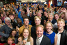 Todd McClay with his family and supporters on Election night in Rotorua. Photo/Stephen Parker