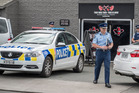 Police Assistant Commissioner of investigations, Richard Chambers from Wellington, at the raid on the Headhunters Motorcycle Club clubrooms in Ellerlie today. Photo / NZ Herald