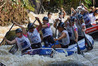 New Zealand's open women's whitewater rafting team in action at the 2015 world championships. Photo/Supplied
