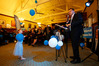 Whangarei MP Shane Reti gives his victory speech at the Whangarei Club with granddaughter Charlotte Belleville, aged four-and-a-half, paying particular attention. Photo/Michael Cunningham