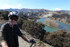 A view of the Clutha River from a cycle track high above it. Photo / Justine Tyerman