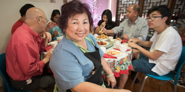 Loading Chef Janet Chan says people eat auspicious foods at Chinese New Year to invite good fortune. Photo / Greg Bowker