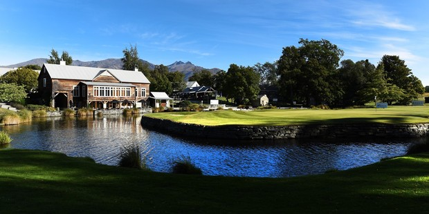 18th hole for 2017 ISPS Handa New Zealand Open at Millbrook Resort Queenstown. Photo / Supplied