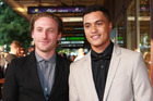 Dean O'Gorman and James Rolleston attend the premiere of Pork Pie at The Civic in Auckland. Photo/Norrie Montgomery