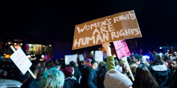 Woman march against Donald Trump. Photo / Flickr: @Fibonacci Blue