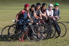 The Lady Gang, from left, Jessica Rose, Lavinia Macoviciuc, Lucy Handford, Vivienne Long, Kiri McKenna and Kate Walker love cycling. Photo / NZ Herald