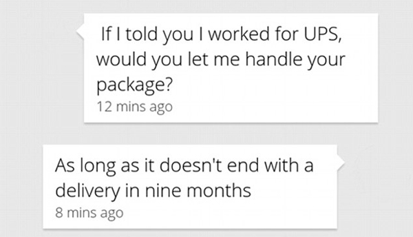 This innuendo was met with a witty reply from someone who is clearly not ready to settle down yet. Photo / Bored Panda