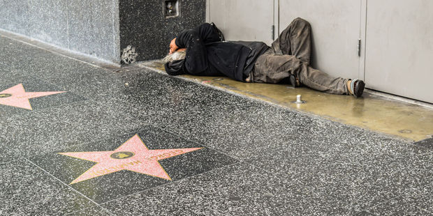 There's nothing sparkly about the Hollywood Walk of Fame in Los Angeles. Photo / 123RF
