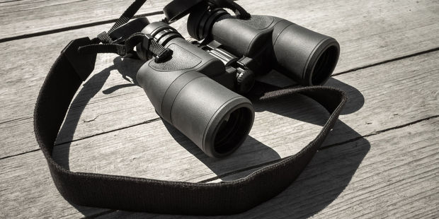 The 87-year-old spied on his neighbours using binoculars. Photo / 123RF