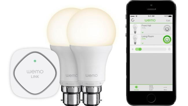Available on iOS and Android devices, the Wemo app have the ability to control each light individually or as a group according to room or area of the house. Photo / Belkin website