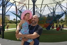 Mike Shatura with daughter Maya at Whoa Studio, a West Auckland complex that includes a film studio and  live puppet show, below. Photo / Supplied