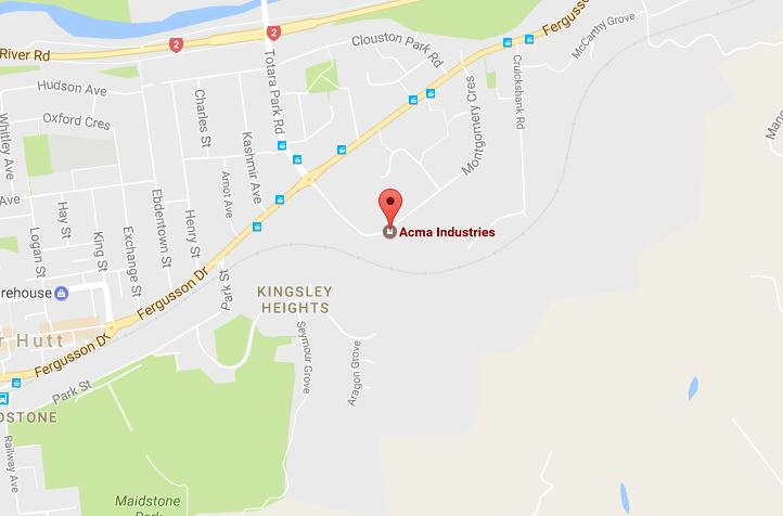 A St John spokesman said the Fire Service requested their assistance at Acma Industries on Montgomery Crescent in Clouston Park. Photo / Google