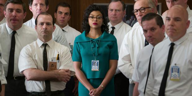 "Loading This image released by Twentieth Century Fox shows Taraji P. Henson as Katherine Johnson, center, in a scene from ""Hidden Figures."" (Hopper Stone/Twentieth Century Fox via AP)"