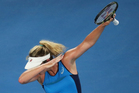 United States' Coco Vandeweghe celebrates after defeating Germany's Angelique Kerber. Photo / AP