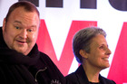 Kim Dotcom  and Laila Harre in 2014 when she was leader of the Internet Party. Photo / Sarah Ivey