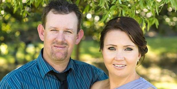 Aaron MacDonald, 38, died alongside his son. Pictured with wife Anah. Photo / Supplied