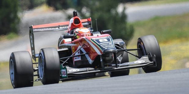 Marcus Armstrong in practice at Hampton Downs. Photo / Supplied