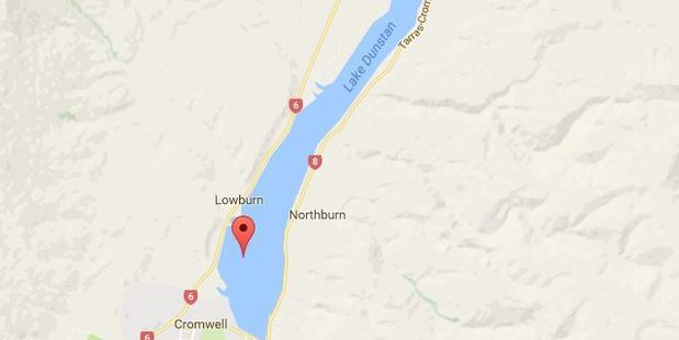 The man had attempted to drive his car into Lake Dunstan, a statement said. Photo / Google
