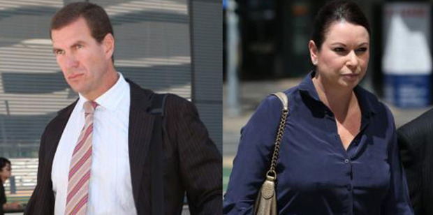 Former Billabong CEO Matthew Perrin and ex-wife Nicole Bricknell. Photo / News.com.au