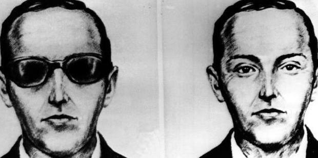 An artist's sketch of D.B. Cooper was based on recollections of passengers and crew. Photo / AP