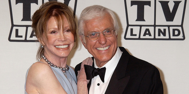 Loading Mary Tyler Moore and Dick Van Dyke reunited at the TV Land Awards several years ago. Photo/Getty
