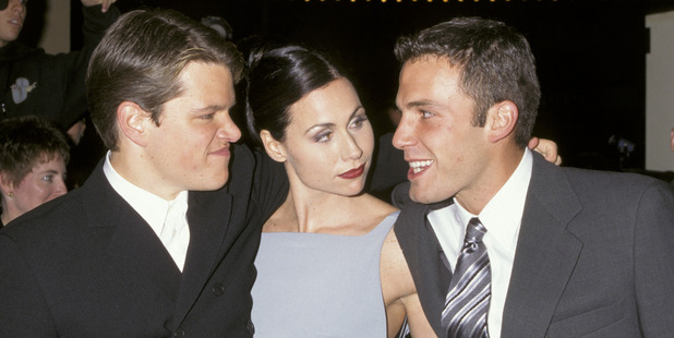 Matt Damon, Minnie Driver, and Ben Affleck during AFI Benefit Premiere of Good Will Hunting. Photo / Getty