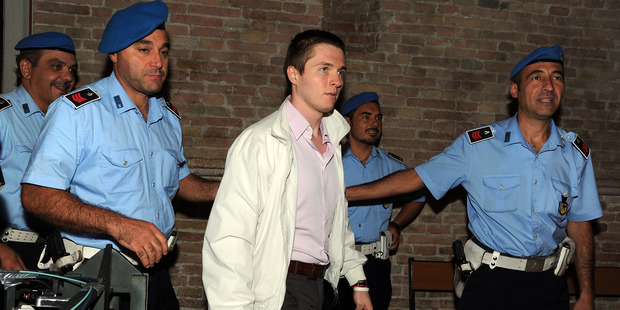 Raffaele Sollecito attends the appeal hearing at Perugia's Court of Appeal in 2011. Photo / Getty Images