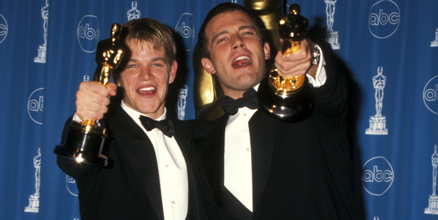 Actor Matt Damon and actor Ben Affleck attend the 70th Annual Academy Awards. Photo / Getty