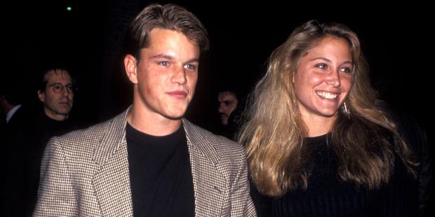 Actor Matt Damon and ex girlfriend Skylar Satenstein. Photo / Getty