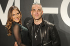 Robbie Williams and wife Ayda Field. Photo / Getty