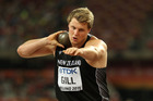 Jacko Gill competes during the 15th IAAF World Athletics Championships. Photo / Getty Images