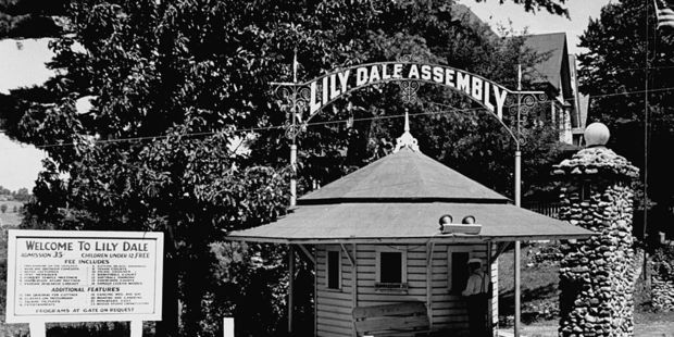 Lily Dale Assembly in the 1930s. Spiritualism thrived in the United States after the devastation of the Civil War. Photo / Getty Images