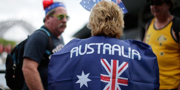 Plane crashed during Australia Day celebrations. Photo / Getty