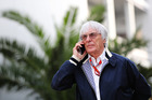 F1 supremo Bernie Ecclestone talks on the phone. Photo / Getty Images