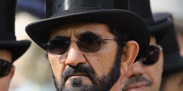 Sheikh Mohammed Bin Rashid Al Maktoum on the fourth day of Royal Ascot in Ascot, England. He has sent his principal bloodstock adviser to New Zealand. Photo / Getty