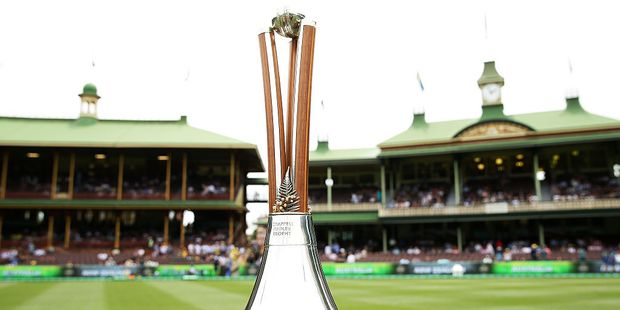 The Chappell-Hadlee Trophy. Photo / Getty