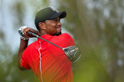 Tiger Woods hits a tee shot during the Hero World Challenge at Albany. Photo / Getty Images