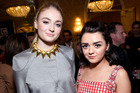 GOT actors Sophie Turner and Maisie Williams are best friends. Photo / Getty