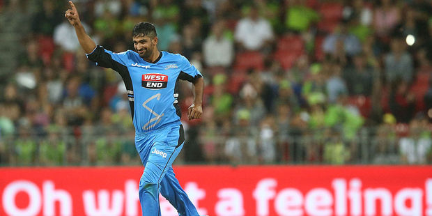 More New Zealanders could be lining up to play in the Big Bash, like Ish Sodhi with the Adelaide Strikers. Photo / Getty