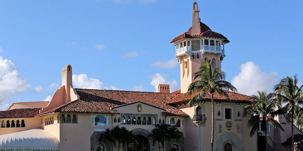 Initiation fees to join Mar-a-Lago, the president's Florida resort, have doubled since he was elected. Photo / Getty Images