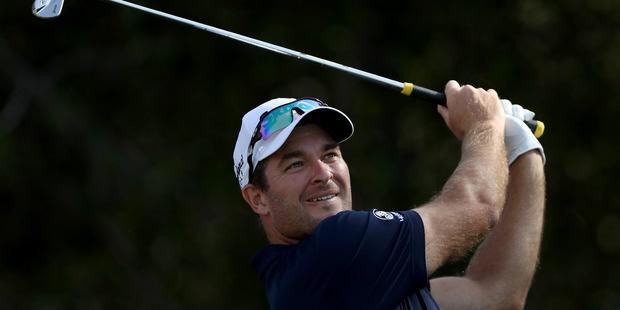 Ryan Fox plays his tee shot during the 2017 Abu Dhabi HSBC Golf Championship. Photo / Getty Images
